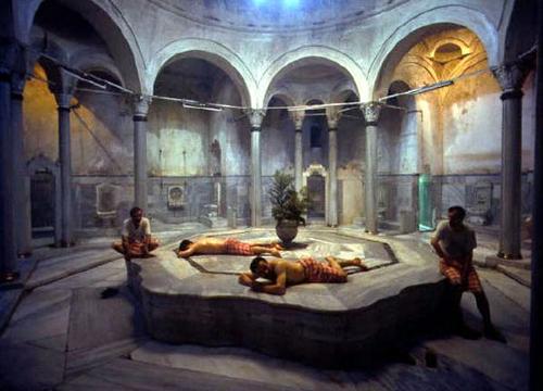 Акведуки в храмах, театрах, банях