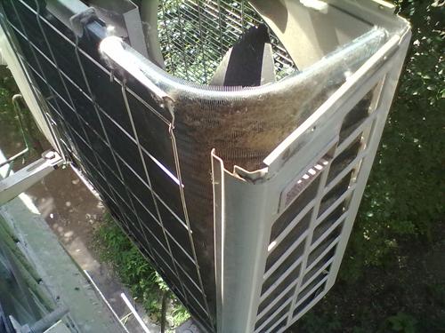 Чистка теплообменника наружного блока кондиционера 1