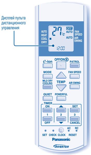 инструкция к пульту кондиционера панасоник Inverter - фото 6