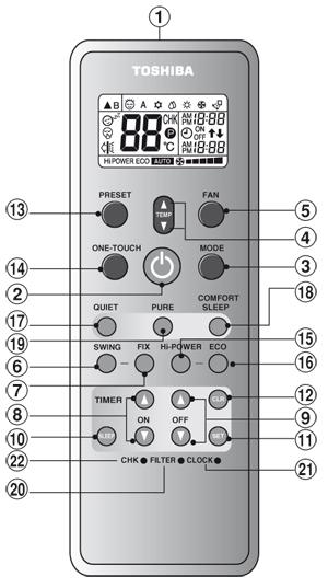 пульт для кондиционера Toshiba инструкция - фото 10
