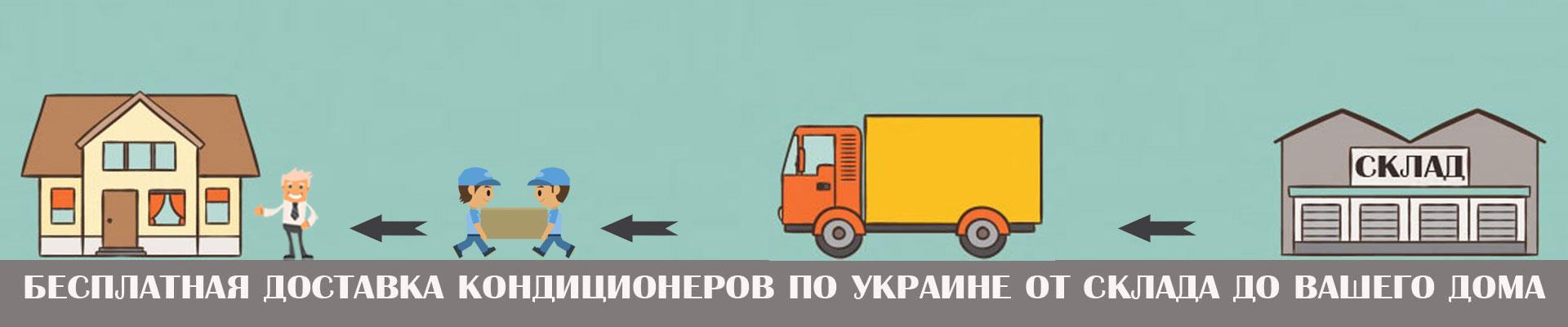 Бесплатная доставка по всей Украине от склада до вашего дома